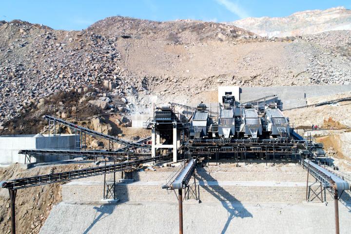 Shandong 600-700TPH Granite Crushing Line