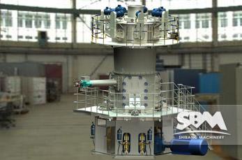 LUM Ultrafine Vertical Roller Mill working