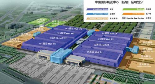 中国国际展览中心(新馆)区域划分